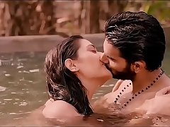 Payal Rajput Indian Bollywood actress kissing in a public pool